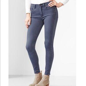 Gap 1969 High Rise Skinny Equinox Blue Jeans 28